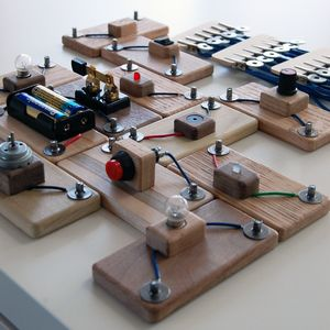 Wooden Electric Circuit Blocks From The Childrens Innovation Project Leaning Store Via