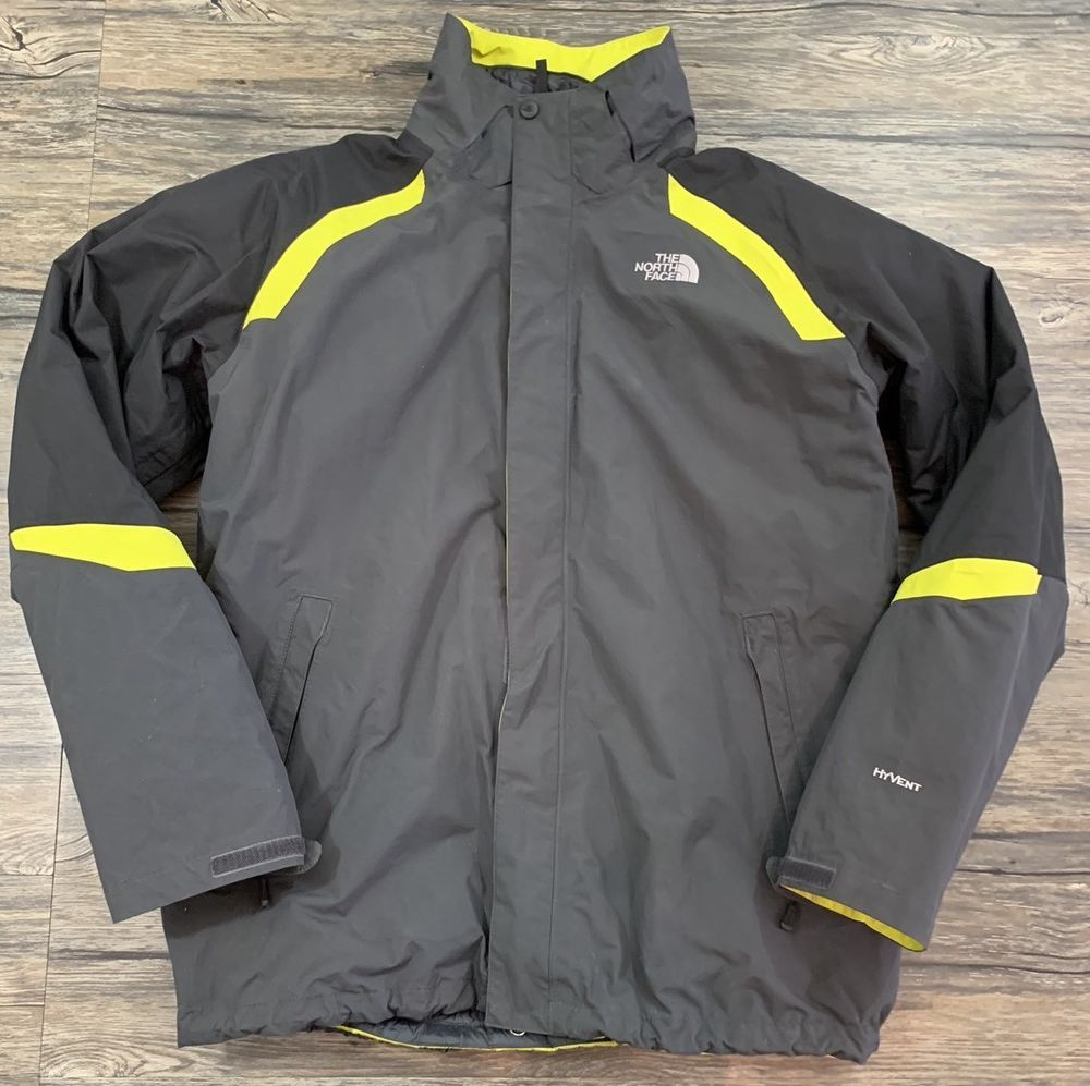 The North Face Jacket 3 In 1 Hyvent Gray Green Mens Sz Xl North Face Jacket Jackets North Face Mens [ 997 x 1000 Pixel ]