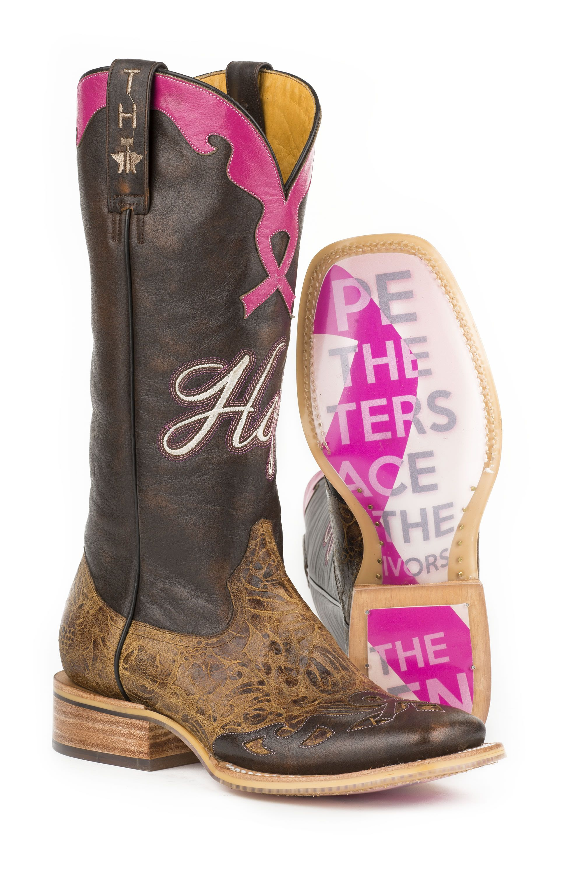 4a30297a38e Tin Haul Ladies Hope Boots w Staying Strong Sole  breastcancer  hope  boots   ladies  fashion  tinhaul  squaretoe  boots  pungoridge  westernbootsales