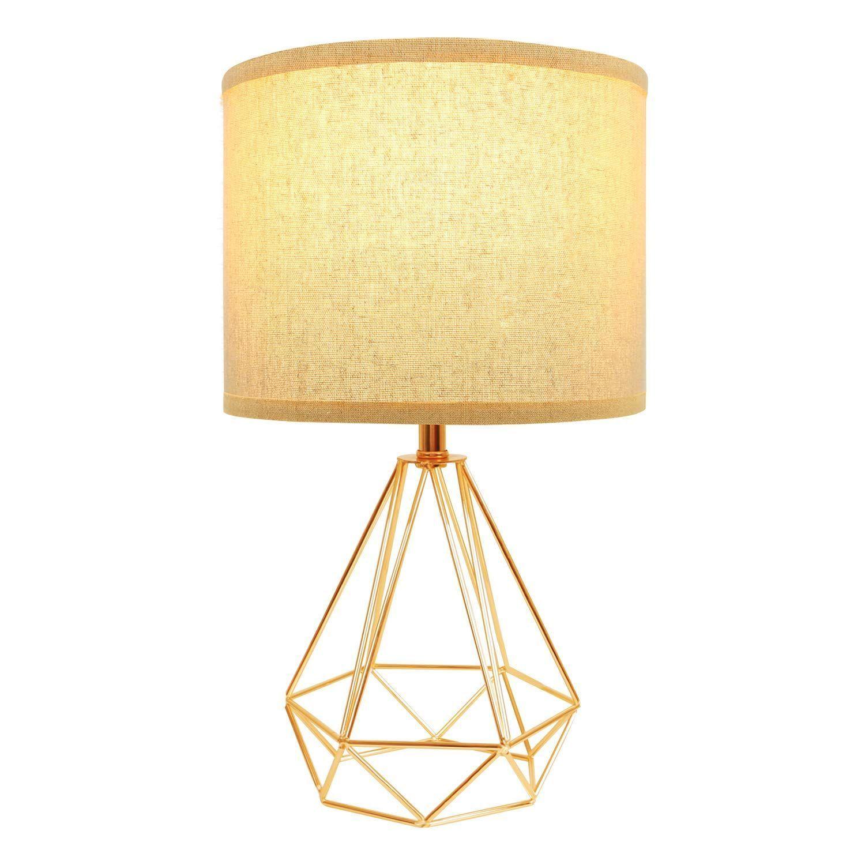 Hong In Modern Gold Table Lamps Geometric Hollowed Out Base 15 2 Bedside B Base Bedside Ge Modern Table Lamp Modern Gold Table Lamps Gold Table Lamp