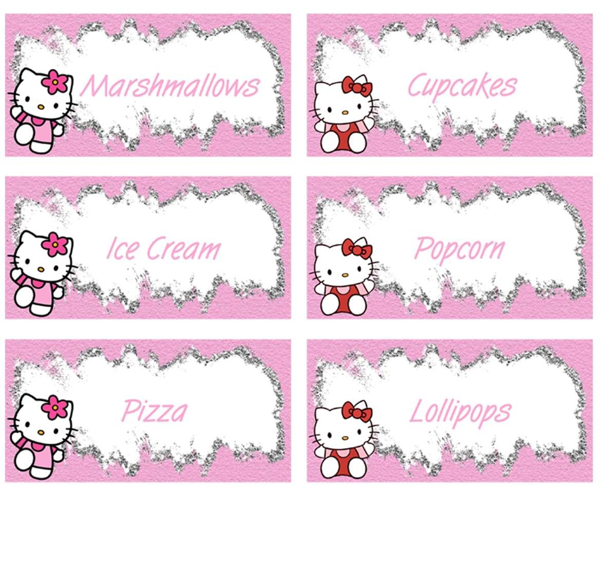 Hello Kitty Food Labels