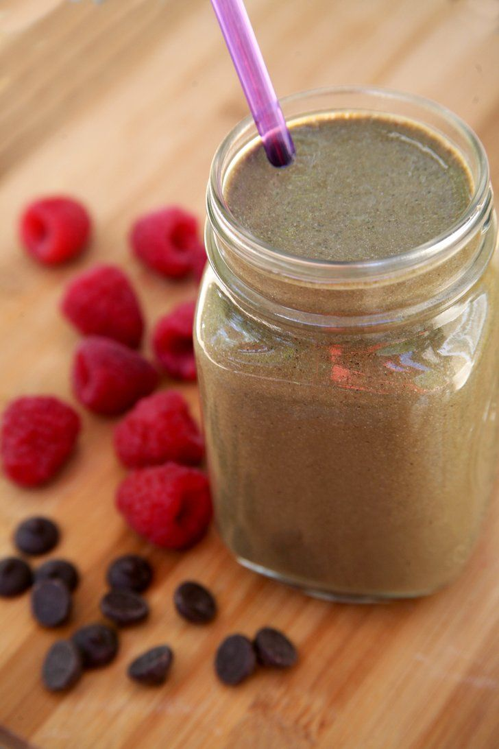 Pin for Later: Dessert For Breakfast? 350-Calorie High-Protein Chocolate Milkshake Smoothie