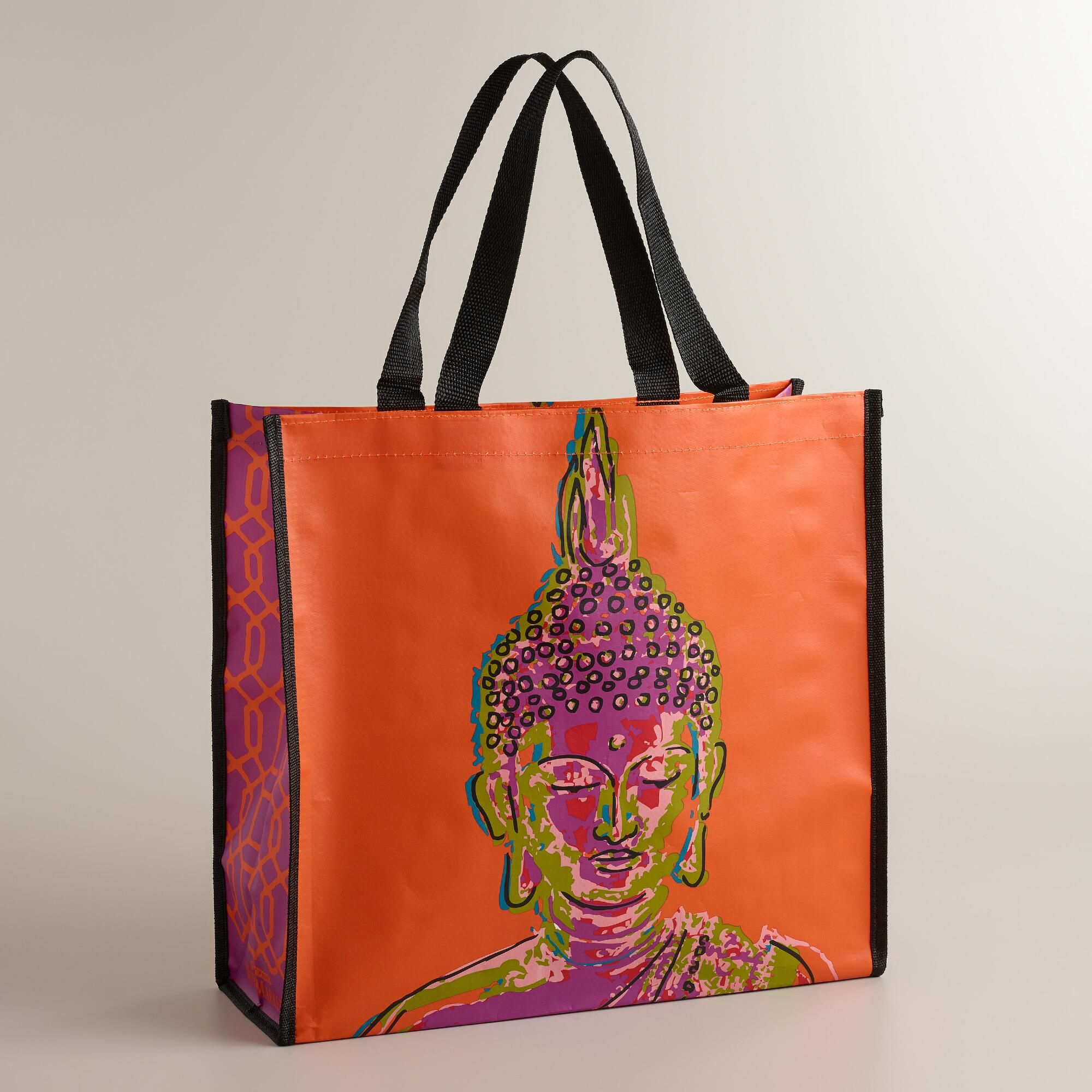 7f53ba07e8 Orange Buddha Tote Bag