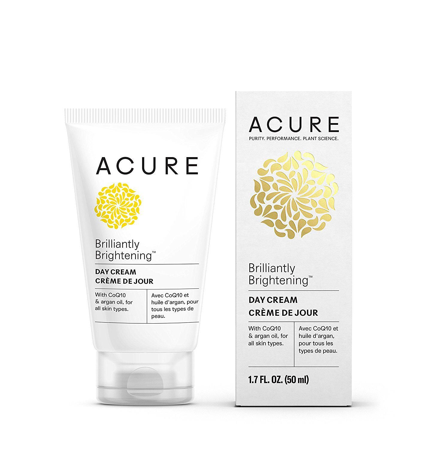 Acure Brilliantly Brightening Day Cream, 1.7 Fluid Ounce