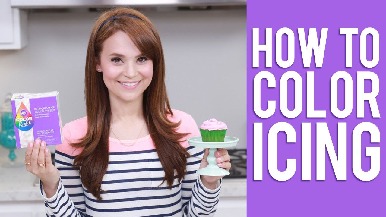 How To Color Icing Rosanna Pansino Video Tutorial Cake Icing Tips Videos Tutorial Fondant Flower Cake