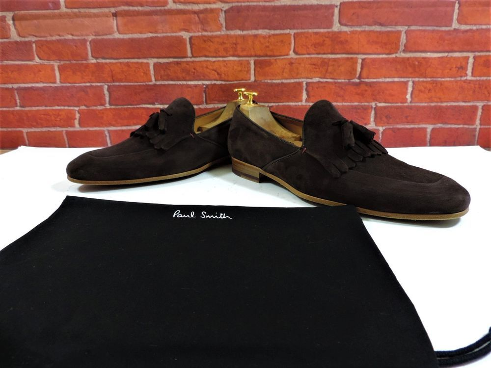 fdd617ffd eBay #Sponsored Paul Smith Loafers Tassel Fringe UK 9 US 10 EU 43 Brown  Suede Worn Once Italian