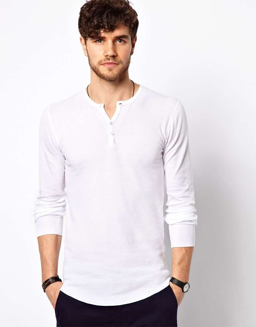 Solid Or Print Henley Tops, When Styling Mens Casual -6200