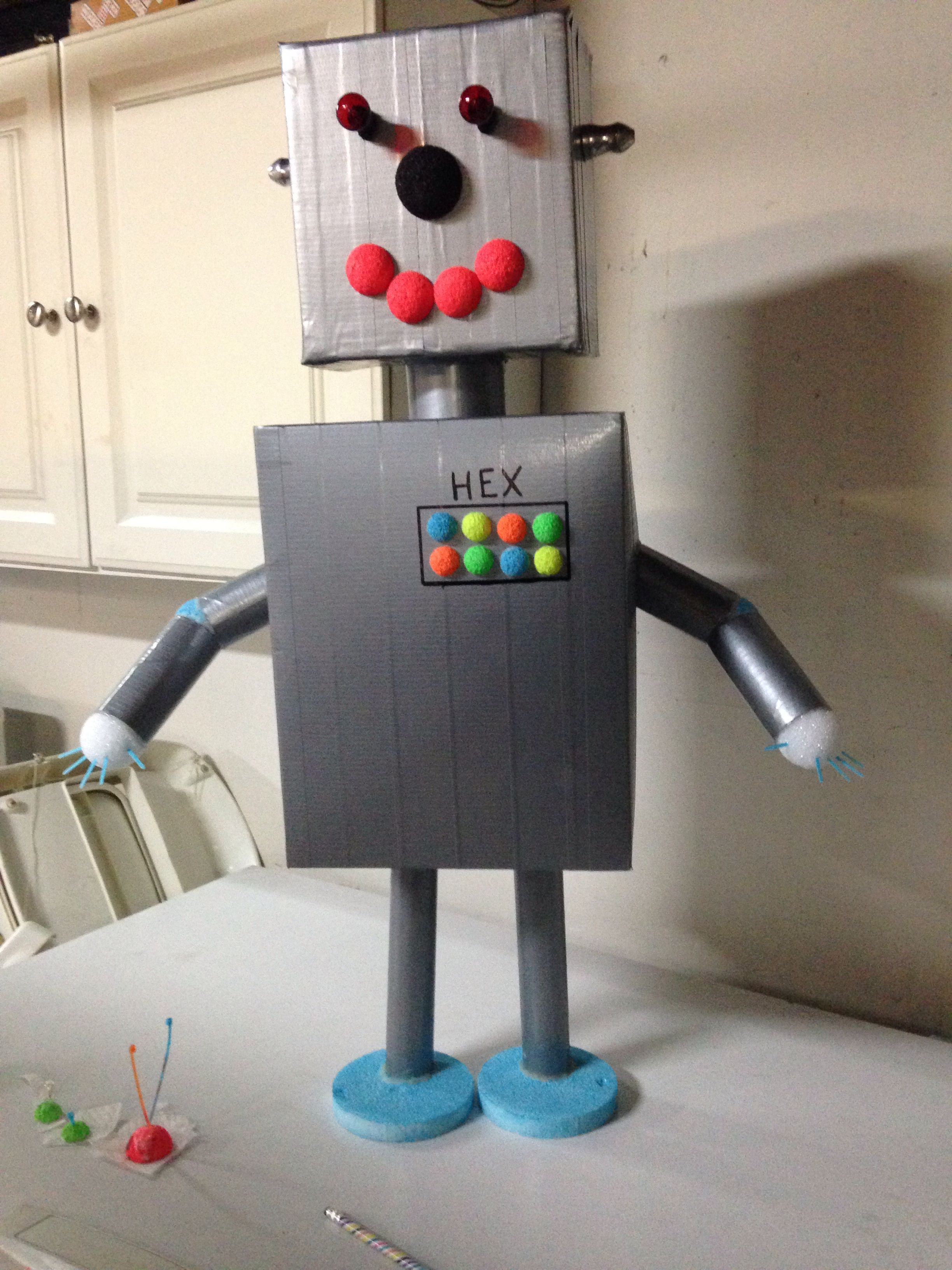 Meccano Robot Robot School Project | Crafty | Robots For Kids, Recycled