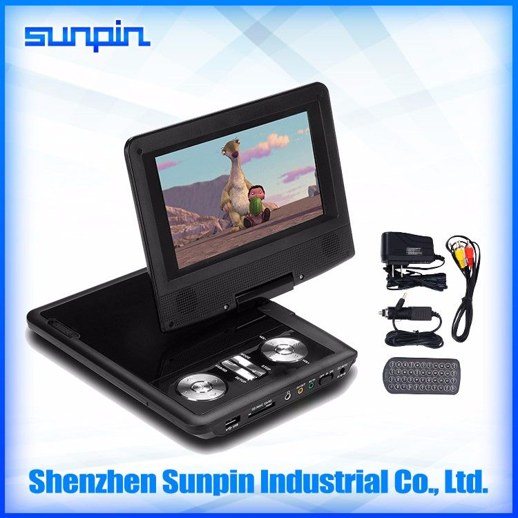 China Cheap Sell 7 Inch Portable DVD Player Home For Kids Car
