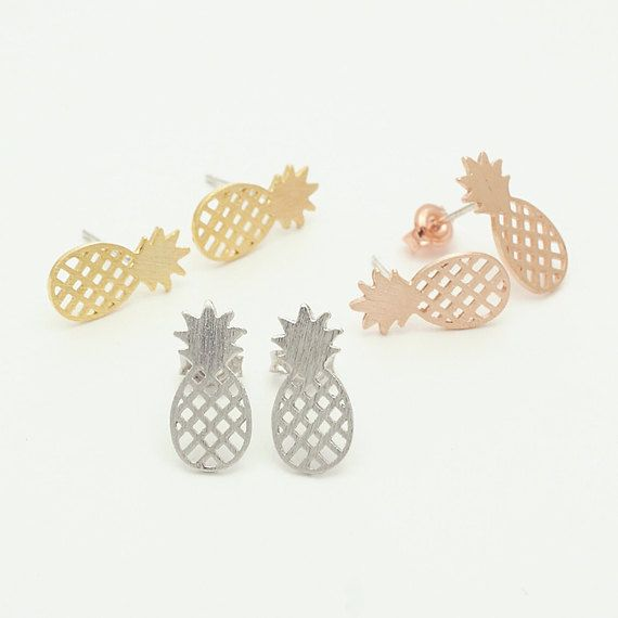 ananas boucle d'oreille