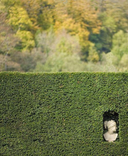 Art niche in the hedge