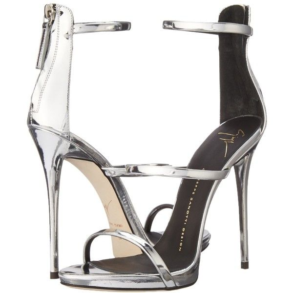 8c28422362f8e Giuseppe Zanotti Women's Metallic Strappy Dress Sandal (2.890 BRL) ❤ liked  on Polyvore featuring shoes, sandals, heels, metallic dress sandals,  giuseppe ...