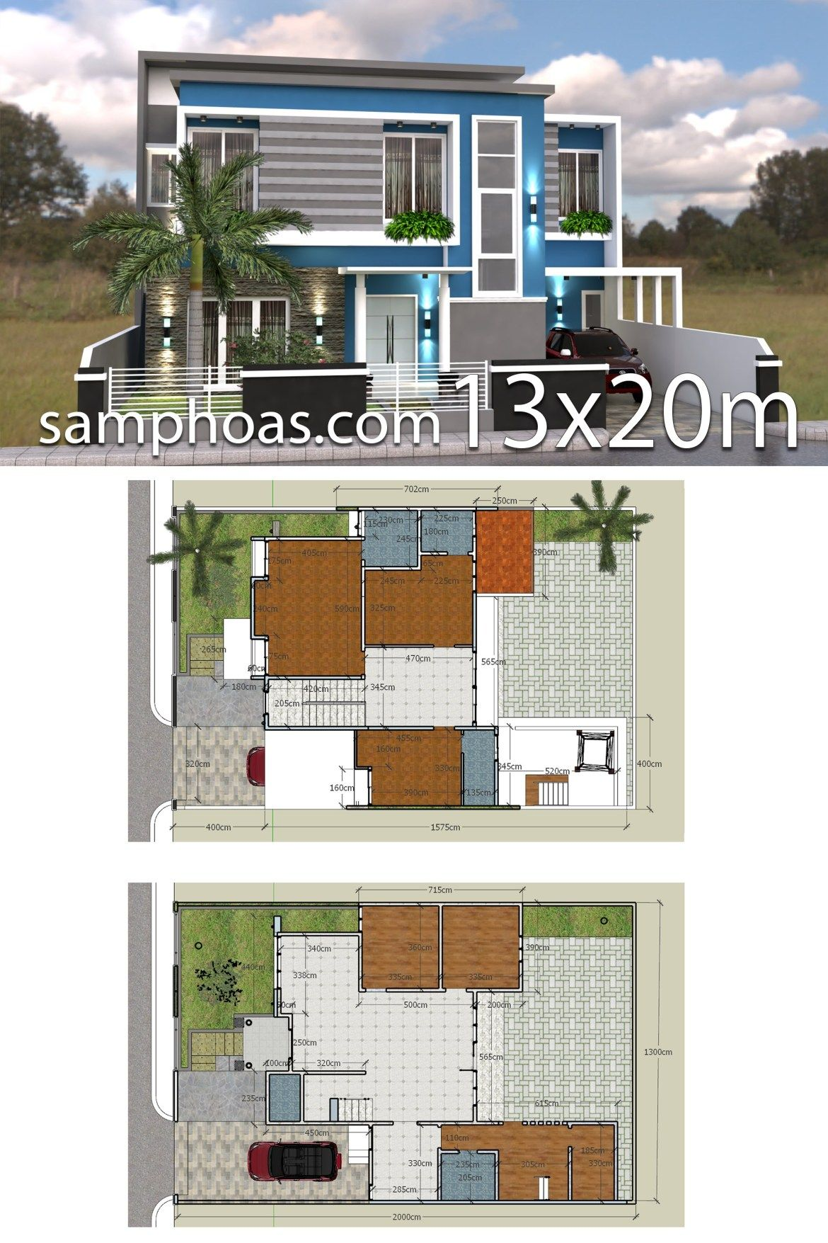 3d Home Design Plan 13x20m With Full Plan 6 Bedrooms Samphoas Plansearch House Design 3d Home Design Home Design Plan