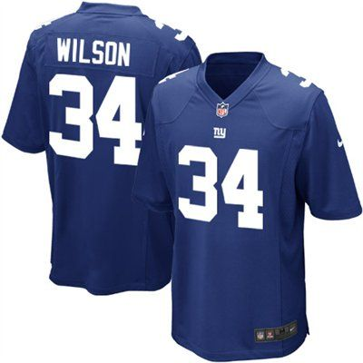 Nike David Wilson New York Giants 2012 Draft Game Jersey - Royal ...