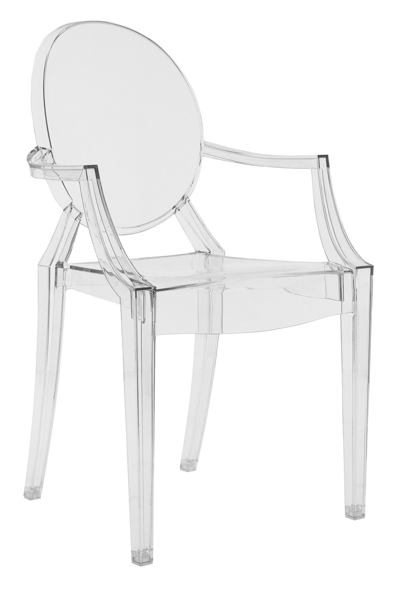 Amy C. Dondoli Sessel Fauteuil Empilable Louis Ghost Transparent Polycarbonate