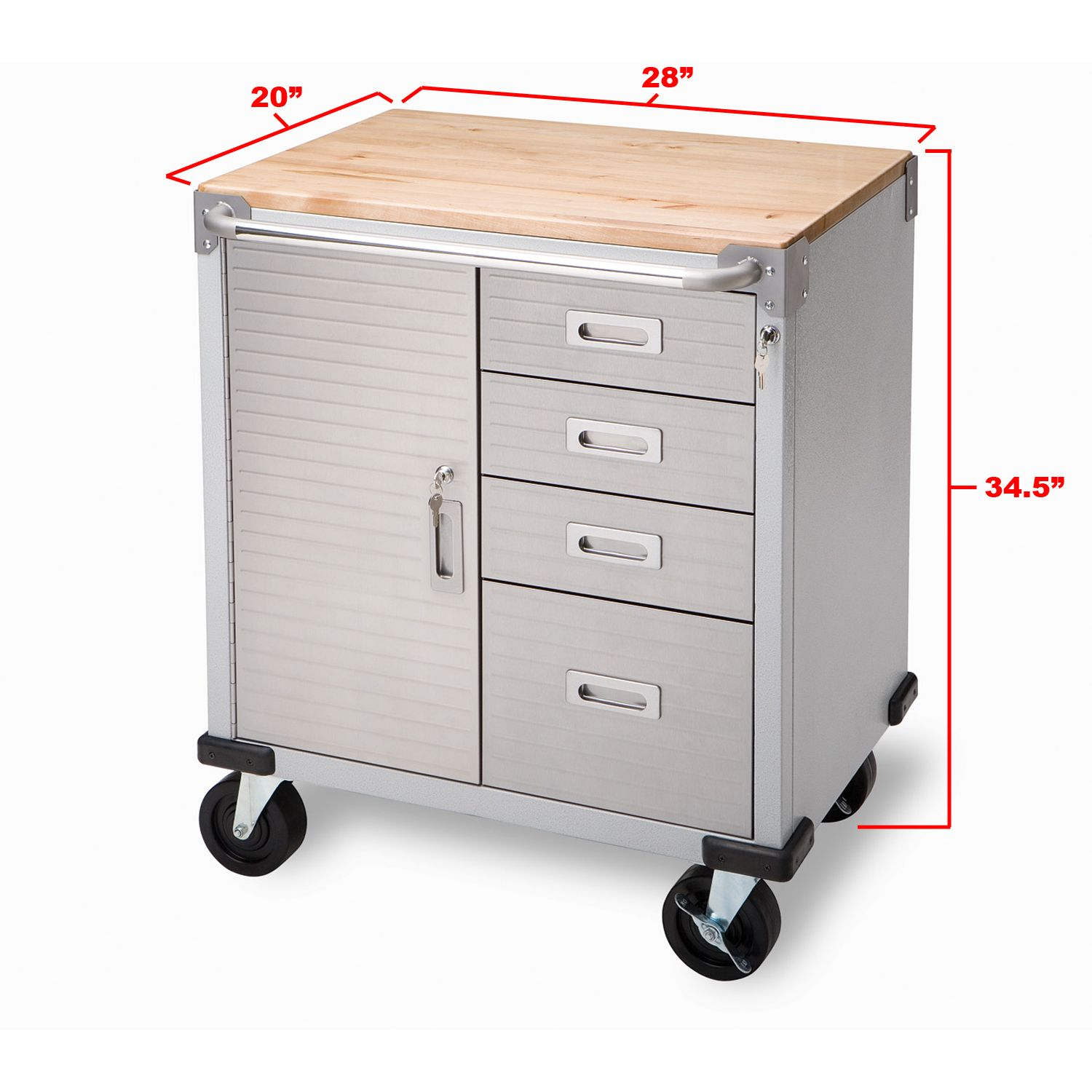 Ultrahd Rolling Cabinet With Drawers 28 Inch By 20 34 5