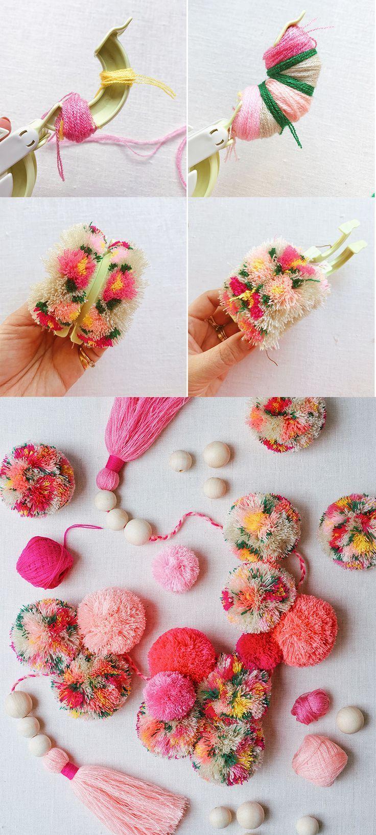 #DIY #pompoms mit Blumen! - Alles ist da #howtowhitenyourteeth