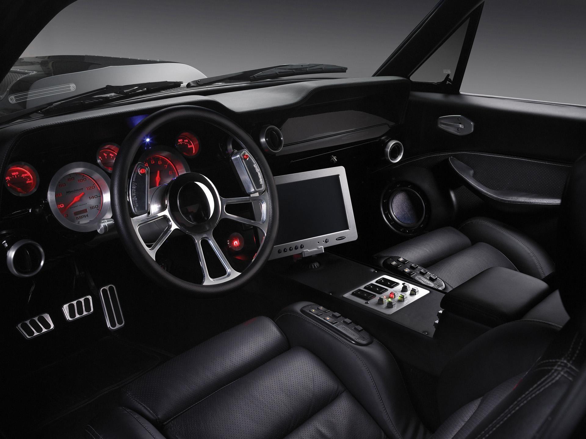 Desktophdwallpaper Org Mustang Camaro Interior First Mustang