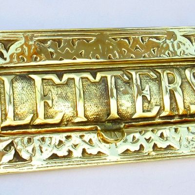 decorative brass letter box cover - Letter Box Covers