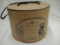 Natural Hat Box with Black Ribbon