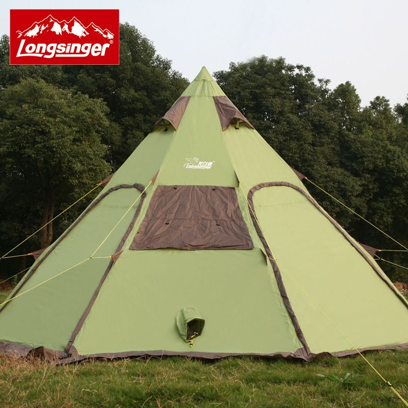 Pyramid tent 8-12 people c&ing tent outdoor family driving Mongolian yurt field trip travel & Pyramid tent 8-12 people camping tent outdoor family driving ...