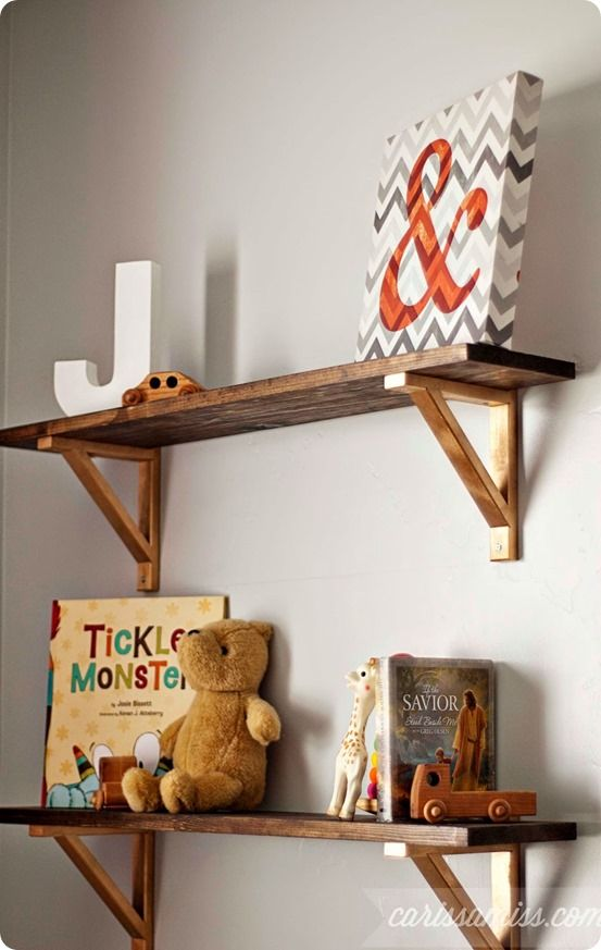 Rustic Wood Wall Shelves With Metal Brackets Knockoffdecor Com Wood Home Decor Diy Wood Shelves Rustic Wood Walls