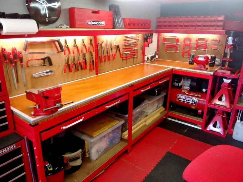 Tool Benches Garage : Refinished my workbench built myself a tool creeper