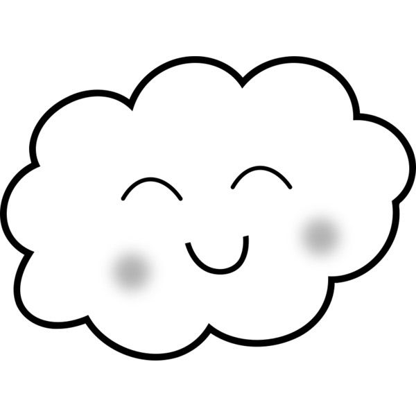 Happy Cloud Coloring Book Liked On Polyvore Featuring Fillers