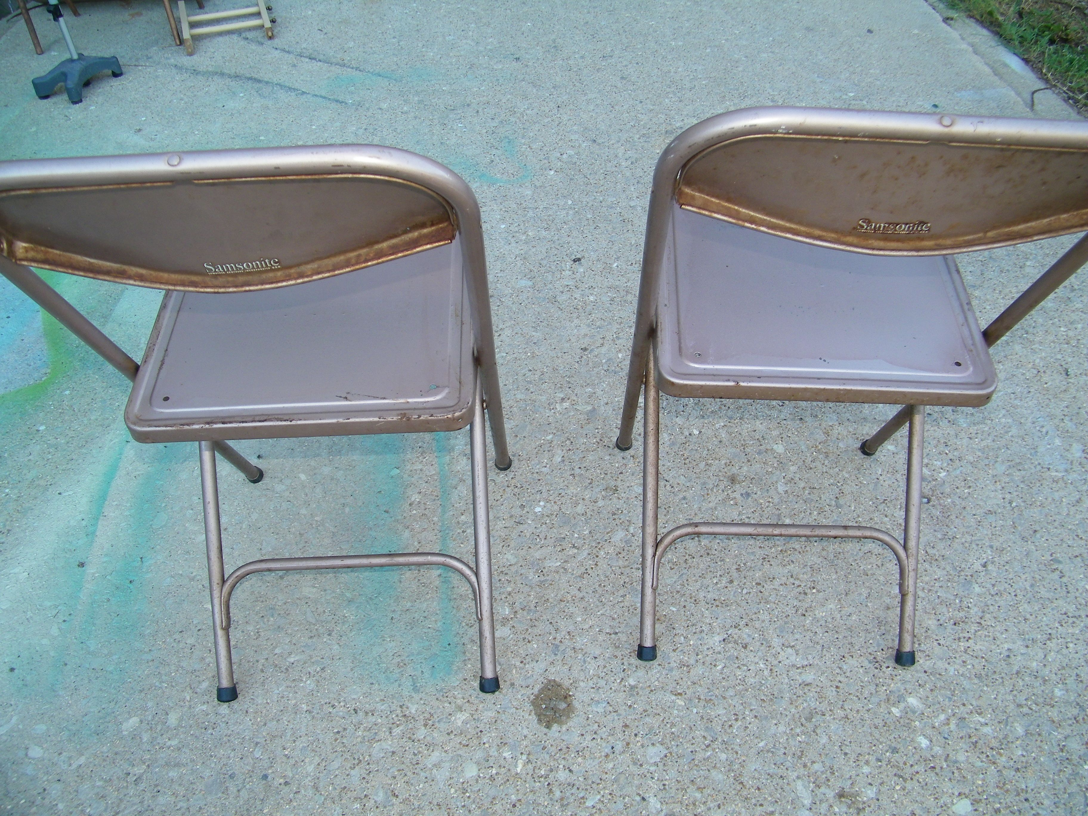Folding Chair Upcycle Grey Nursery Glider Vintage Rusty Metal Chairs Before Upcycled