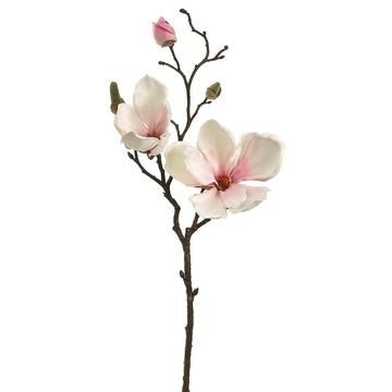 Magnolia Spray In Blush Pink Magnolia Branch Artificial Flowers Magnolia Flower