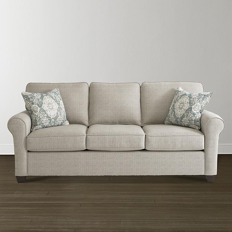Amazing Sofa 85 Inch Wide And 37 Inch Deep Is A Great Size For TV Area. The Roll  Arms Are Comfortable For Napping. You Can Design Thru Bassett Furniture Wiu2026