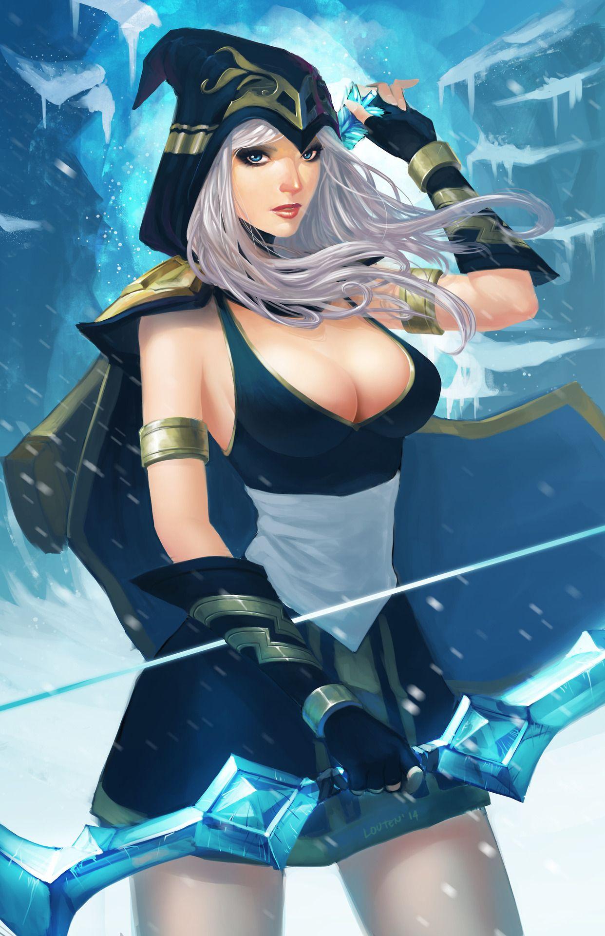 louten:  Ashe fan art from League of Legends