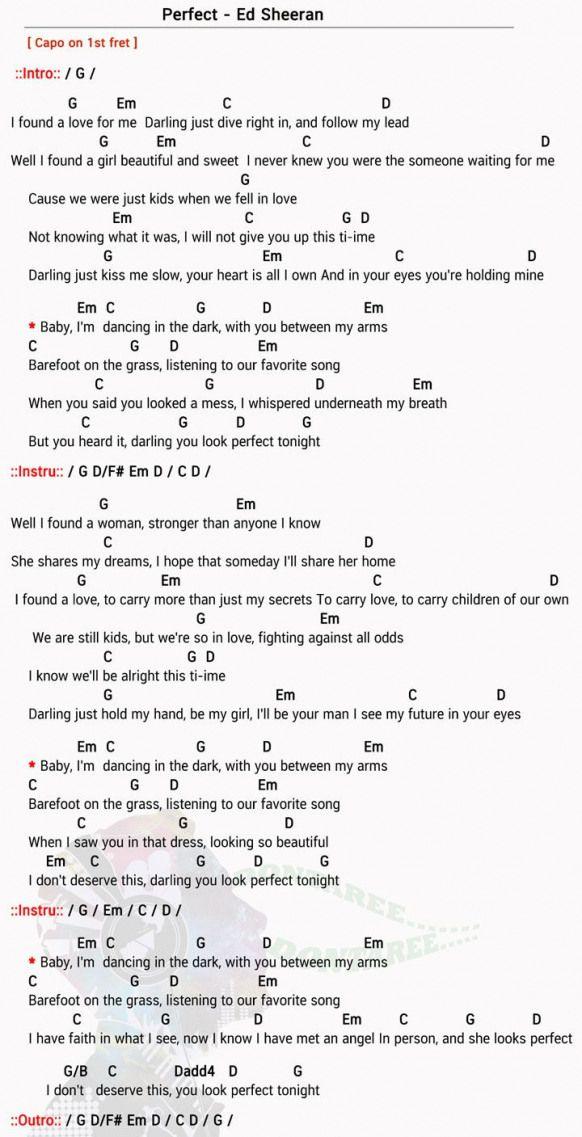 Perfect Chord Easy Songs Songs Songs Ukulele Chords Songs Easy Chords Songs Ukulele Songs