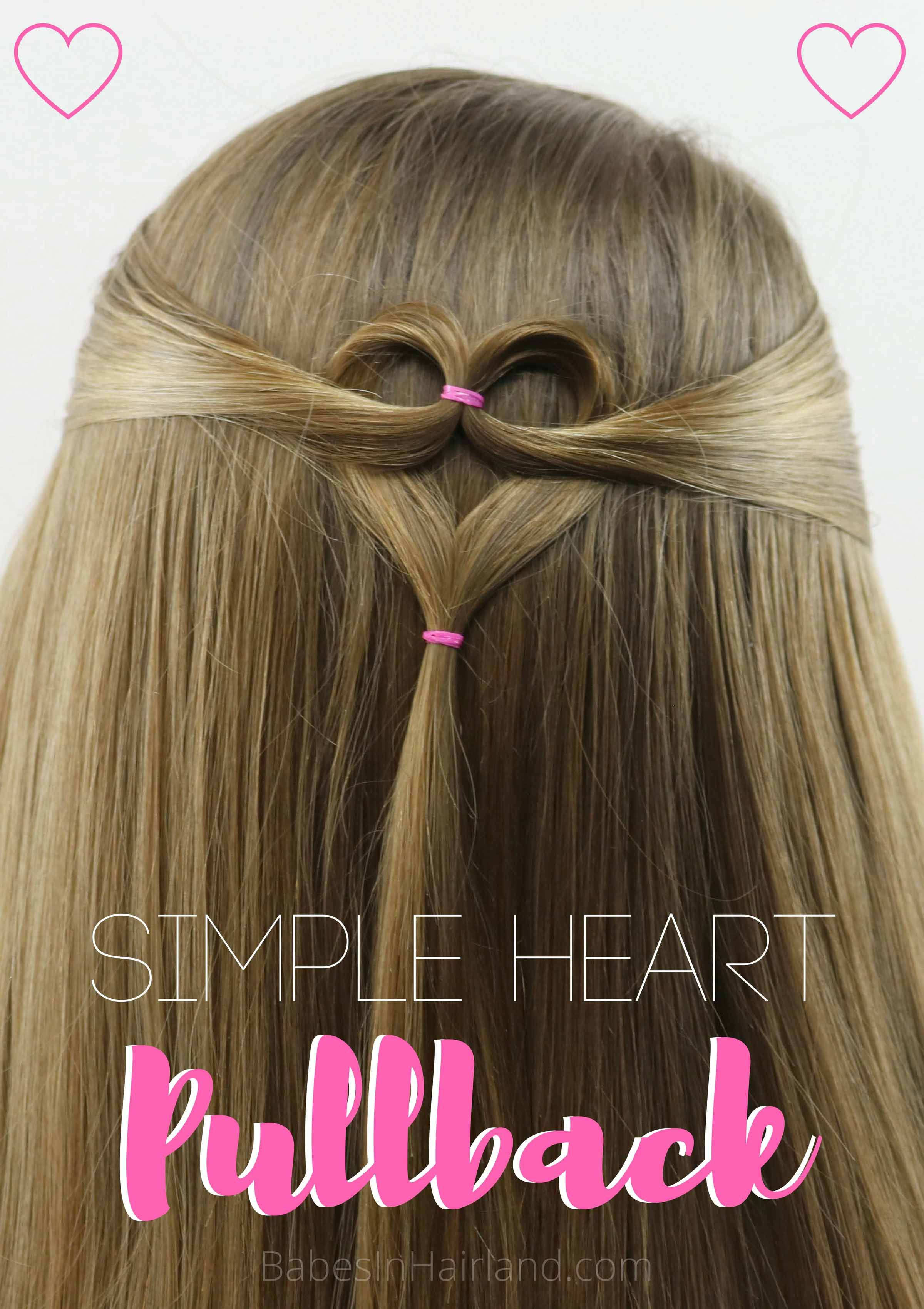 Triple Heart Pullback | Valentine's day hairstyles, Cute hairstyles for kids, Heart hair
