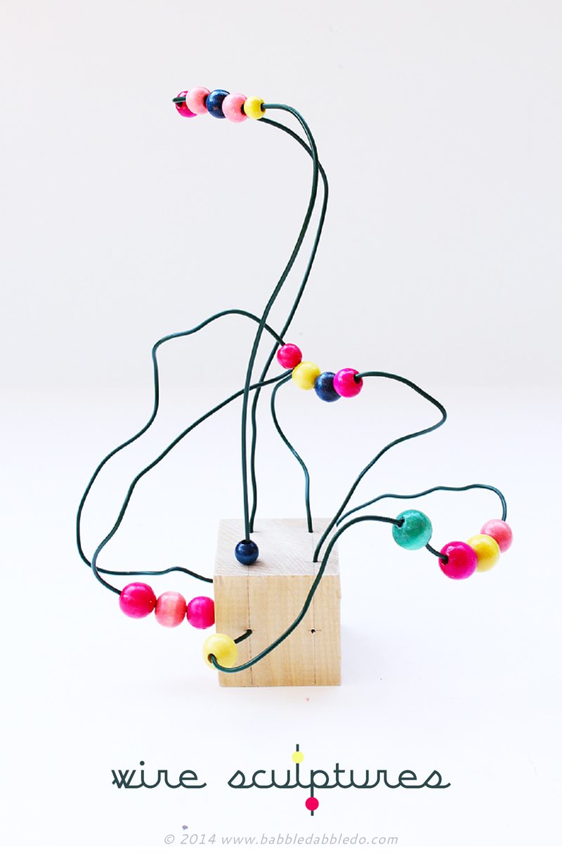 Easy Art For Kids Wire Sculpture