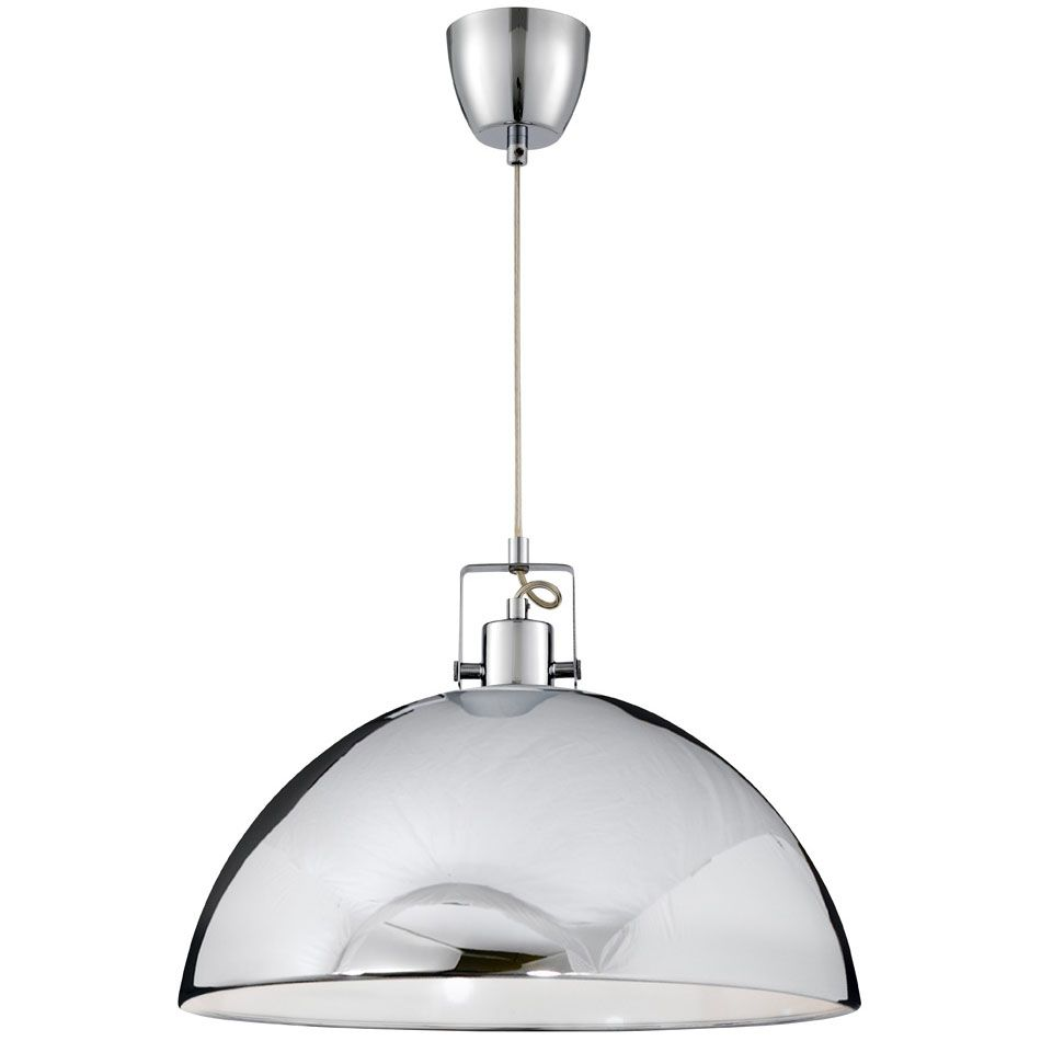 Kitchen Lighting Next: Searchlight Chrome Dome Pendant Light