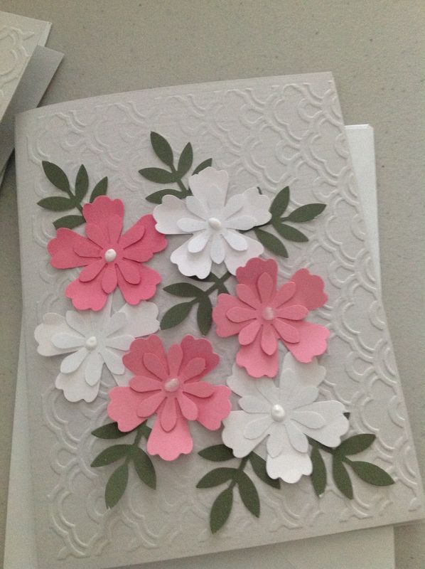 Flowers and embossed