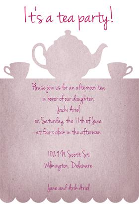 printable victorian tea party invitation  printable tea party, invitation samples