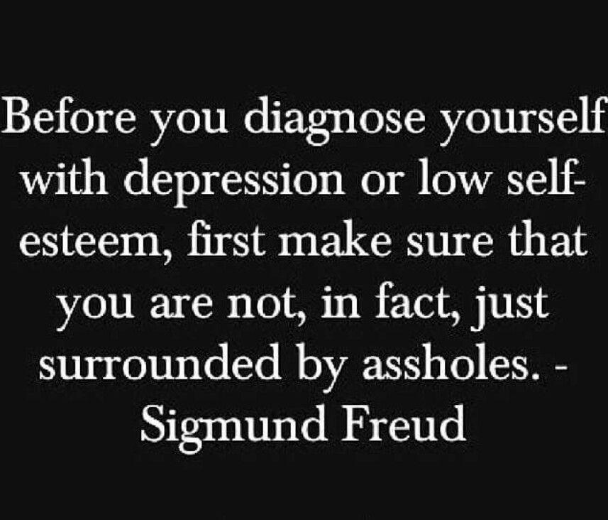 Sigmund Freud and his bad self lol.