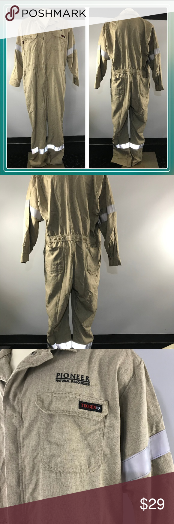 Tecgen Fr Flame Resistant Safety Coverall Xl Coveralls Flame Resistant Leg Sleeves
