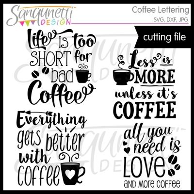 Coffee Lettering SVG