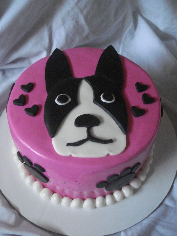 Boston Terrier Birthday Cake Animal Kids Pinterest Chocolate