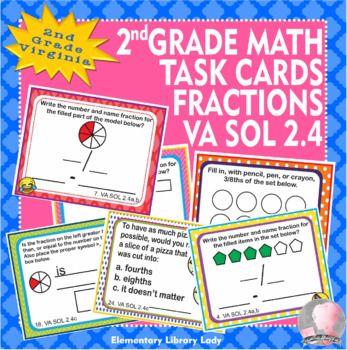 Virginia SOL Math 2nd Grade Math Task Cards Fractions VA ...