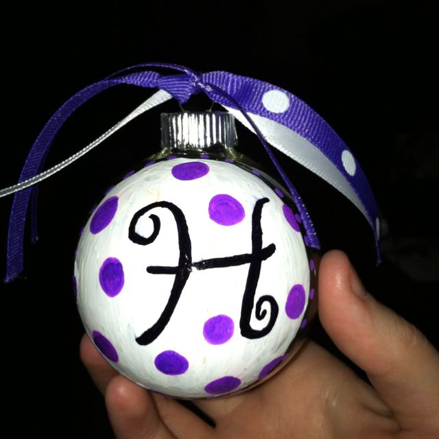 Monogrammed TCU themed ornaments I made for Christmas this ...