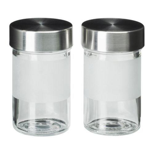 DROPPAR Contenitore per spezie, vetro smerigliato, inox | Spezie ...