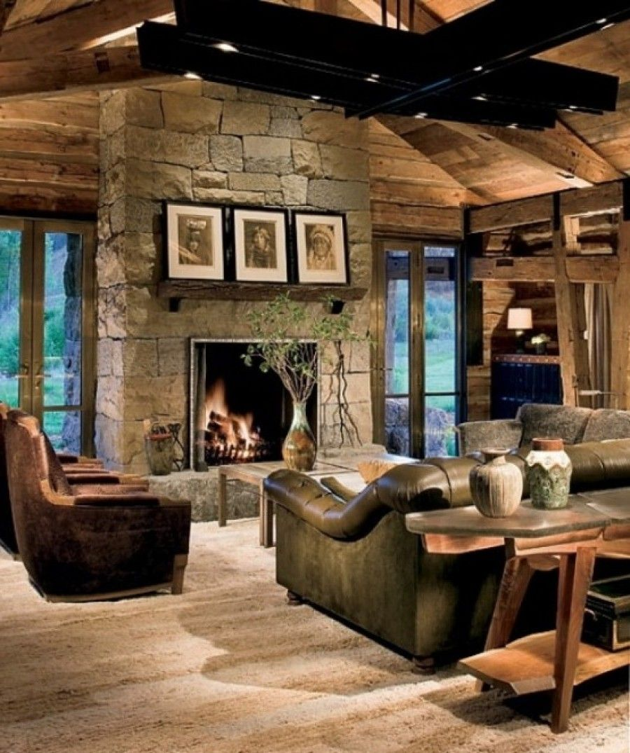 Wood And Stone House stone ranch houses |  room house of classical ranch with stone