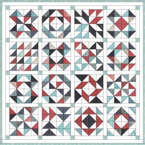 Feed Company Half Square Triangle Quilt Hummingbird Thread