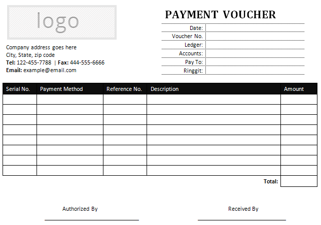 Sample Payment Voucher Template For Microsoft Word  Loan Payment Coupon Template
