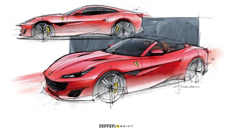Ferrari portofino dessin auto italienne design dessin voiture - Dessin de ferrari ...