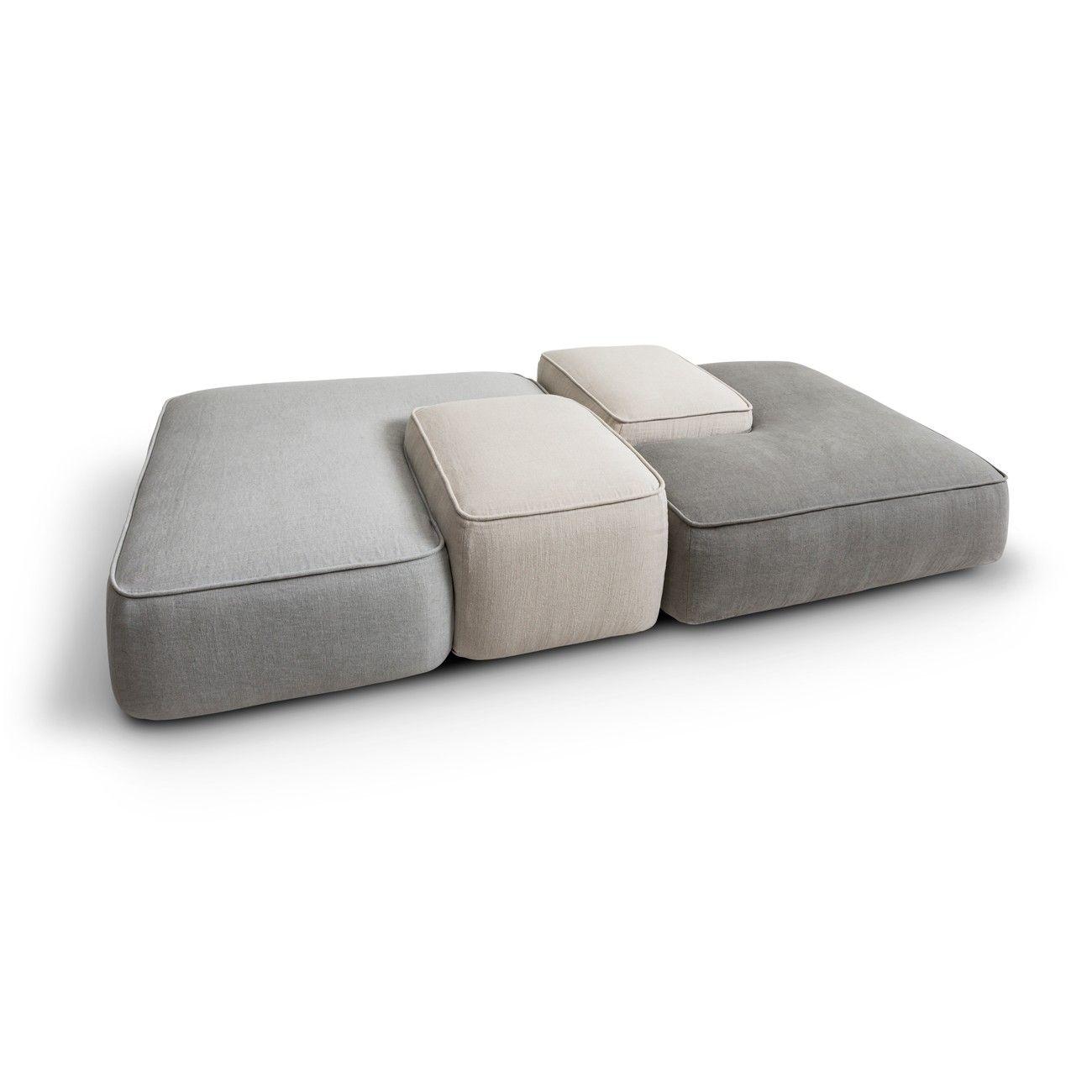 Lema Cloud Modular Sofa Ottoman 2160